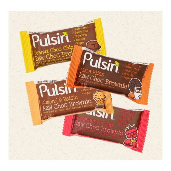 Barre vegan Raw Choc Brownies Pulsin 50g