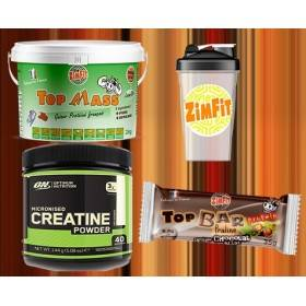 Creatine Optimum 144G + Shaker Reservoir + 1 Top Bar Protein
