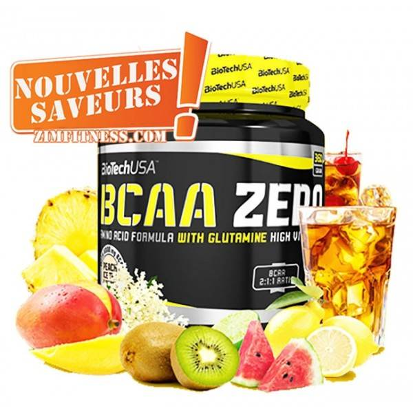BCAA Flash Zéro Biotech USA 360g