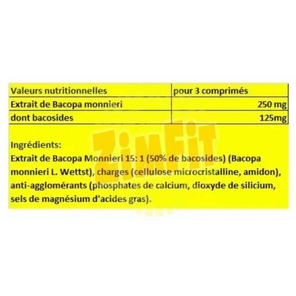 Bacopa Monnieri 250 mg Essence Nutrition 90 caps