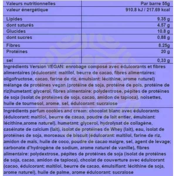 Barre protéinée N'Joy XXL Nutrition 55g